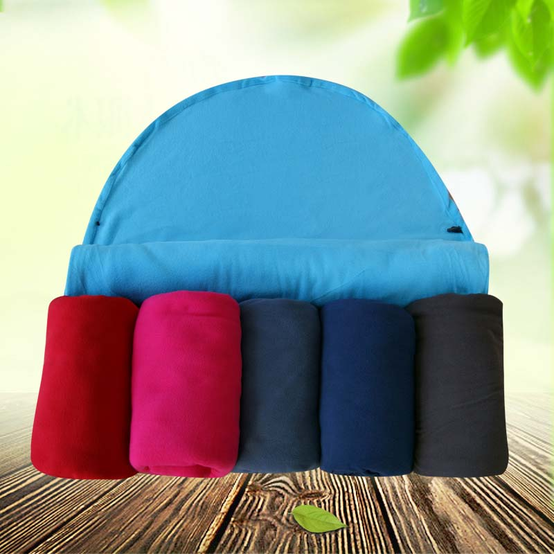 e7df12d8e8b Tri polar Ultralight Dual side Fleece Sleeping Bag with Hat Portable  Outdoor Camping Travel Warm Sleeping Bag Liner ZR003-in Sleeping Bags from  Sports ...