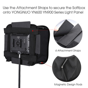 Image 4 - Difusor Softbox 23*23 para YONGNUO YN600L II YN900 YN300 YN300 III Panel de luz de vídeo Led filtro suave plegable