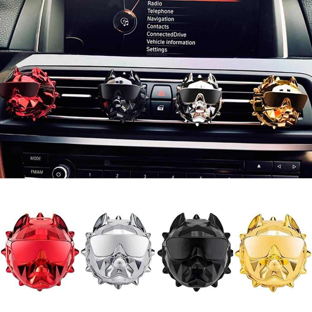 New Bulldog Car Air Freshener Perfume Clip Fragrance Diffuser Auto Vents Scent Parfum Bulldog Diffuser Car Decor Perfume