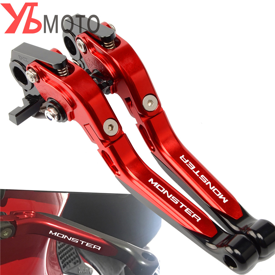 New Collections Motorcycle CNC Foldable Extendable Brake Clutch Levers For DUCATI 695 MONSTER 620 MTS S2R