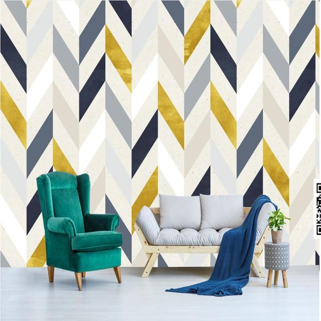 Custom hd photo wall mural european non woven wallpaper 3d abstract geometric figures sofa tv