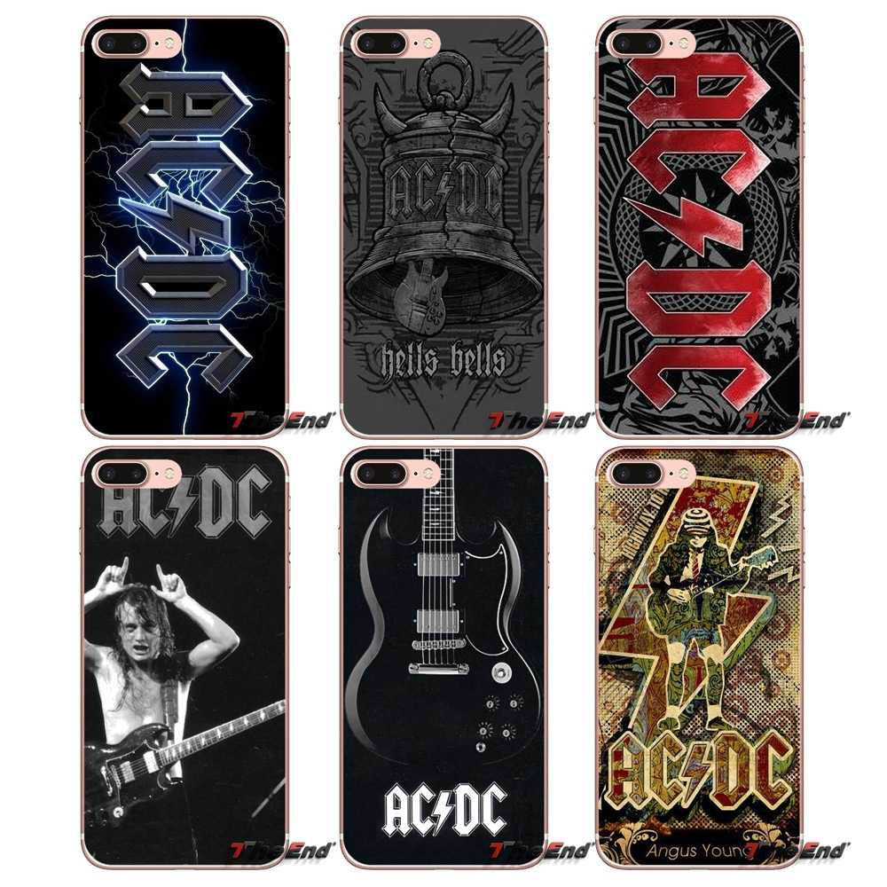 For Samsung Galaxy S9 Plus Note 8 One Plus Oneplus 5t Meizu M5s Lg V30 Htc U11 Capa Music Band Acdc Ac Dc Malcolm Angus Tpu Case