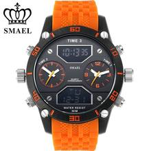 Big Dial Men Sports Watch Three Time Display Digital Quartz Waterproof Dual Time Casual Wrist watches Baby relogio masculino