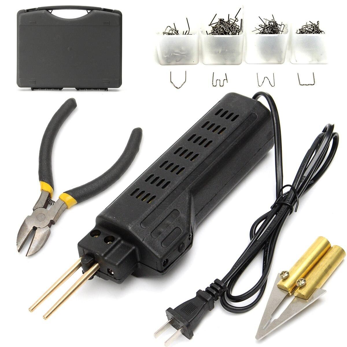 Intelligent 0.6/0.8mm 200 Staples Hot Stapler Car Bumper Plastic Welding Torch Fairing Auto Body Tool Welder Machine 220-250v Non-Ironing Welding Equipment