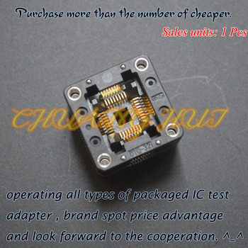 IC TEST QFP32 TQFP32 ic test socket OTQ-32-0.8-02 test socket Pitch=0.8mm Size=7x7mm 9x9mm free shipping tqfp100 fqfp100 lqfp100 burn in socket otq 100 0 5 09 pin pitch 0 5mm ic body size 14x14mm open top test adapter