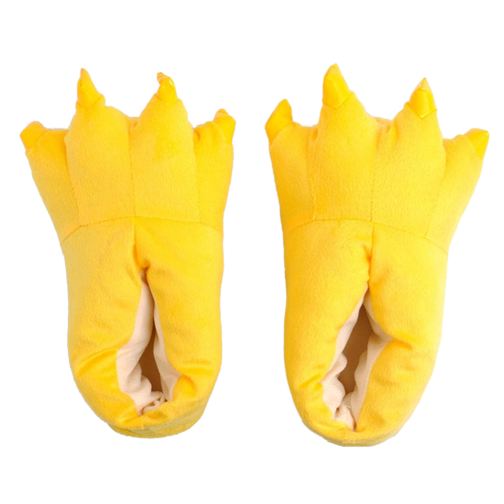 1 Pair Of Baby Shoes Unisex Cute Plush Paw Claw Shoes Home Slippers Animal Slippers Cosplay Costumes(China)