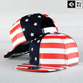 The New 2017 American Flag Hip-hop Cap Han Edition Flat Hat Baseball Caps for Men and Women Personality Hip-hop Cap