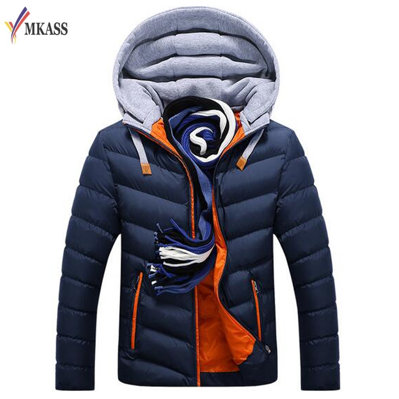 Подробнее о New Men Winter Jacket Warm Coat Cotton-Padded Outwear Mens Coats Jackets Hooded Collar Slim Clothes Thick Parkas M-4XL winter jacket men coats thick warm casual fur collar winter windproof hooded outwear men outwear parkas brand new