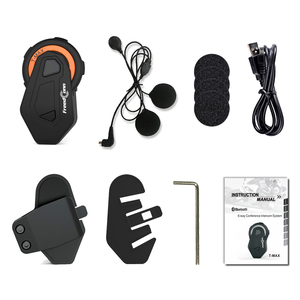 Image 5 - T Max Motorfiets Bluetooth Helm Intercom Headset Groep Talk Systeem 1000M Bluetooth 4.1 6 Riders Bt Interphone + fm Radio