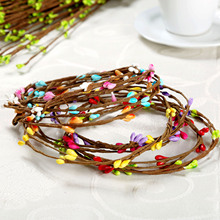 Artificial Beads Branches Flower Stamen for Home Wedding Party Car Decoration Crafts Flowers 10Pcs 40cm 9colors