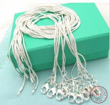 10pcs 925 sterling silver Snake Chain Necklace Women Jewelry sterling silver jewelry chokers fashion accessories 16,18,20,24
