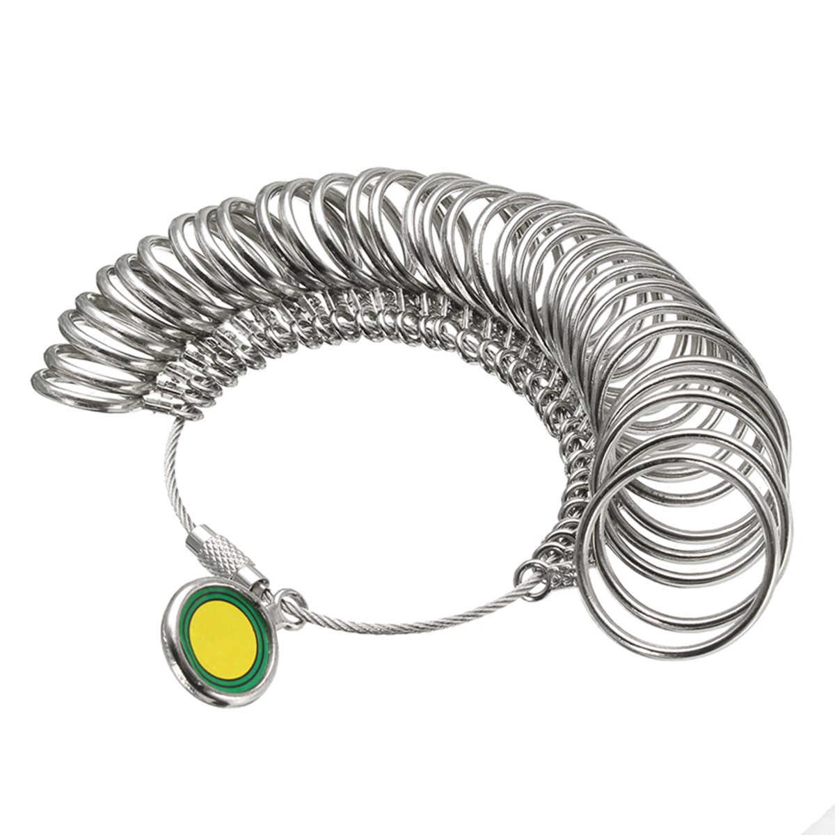 3 шт. 1-33 американский размер кольцо кольцемер оправка палец шаблонное кольца набор мерный молоток комплект для создания бижутерии детали ручного инструмента серебро