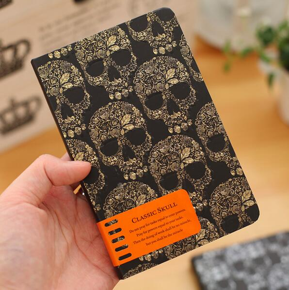 Gold silver Skeleton Notebook Gift diary Note Book Agenda planner Material escolar caderno Office stationery supplies GT088 famous building notebook gift diary note book agenda planner box material escolar caderno office stationery supplies gt100
