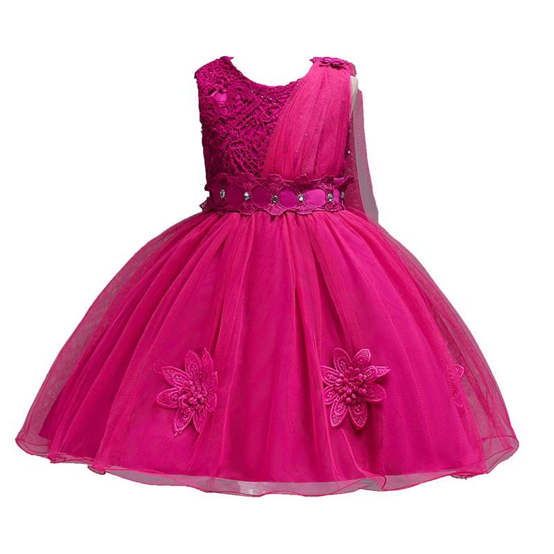 b6a5a0989d0c6 Girls Dress Children Clothing Princess Summer Party Wedding Dresses For  Girls Carnaval Costumes For Kids 2 3 4 5 6 7 8 9 Years