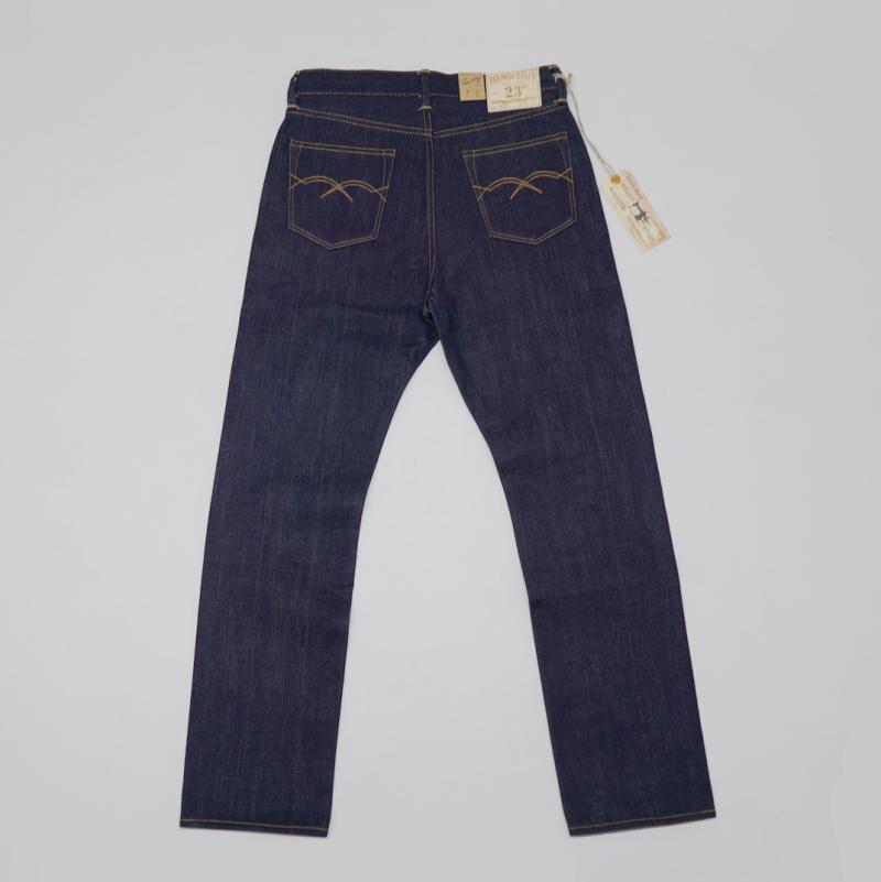 بوب دونغ 23 oz الرجال الجينز الأحمر خط حلفة الدينيم السراويل سليم صالح مستقيم الساق-في جينز من ملابس الرجال على  مجموعة 1