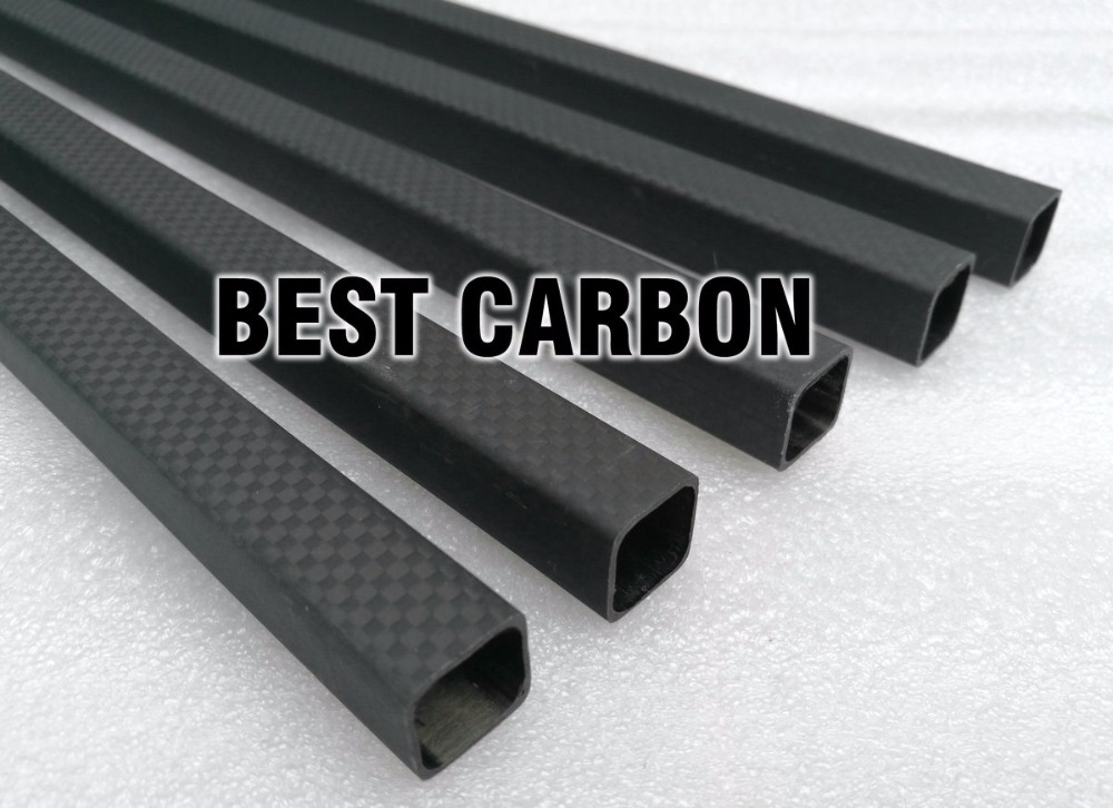 Matte surface 15mm x 13mm x 1000mm Square High Quality 3K Carbon Fiber Fabric Wound/Winded/Woven Tube Carbon Tail Boom