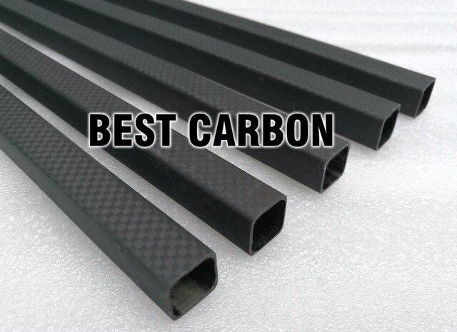 Superficie mate 15mm x 13mm x 1000mm cuadrado de alta calidad 3 K tela de fibra de carbono herida/ brazo de cola de carbono de tubo trenzado