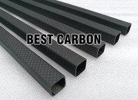 Superficie mate  tela de fibra de carbono 3K de alta calidad cuadrada de 15mm x 13mm x 1000mm  enrollada/tubo tejido  fuselaje posterior de carbono