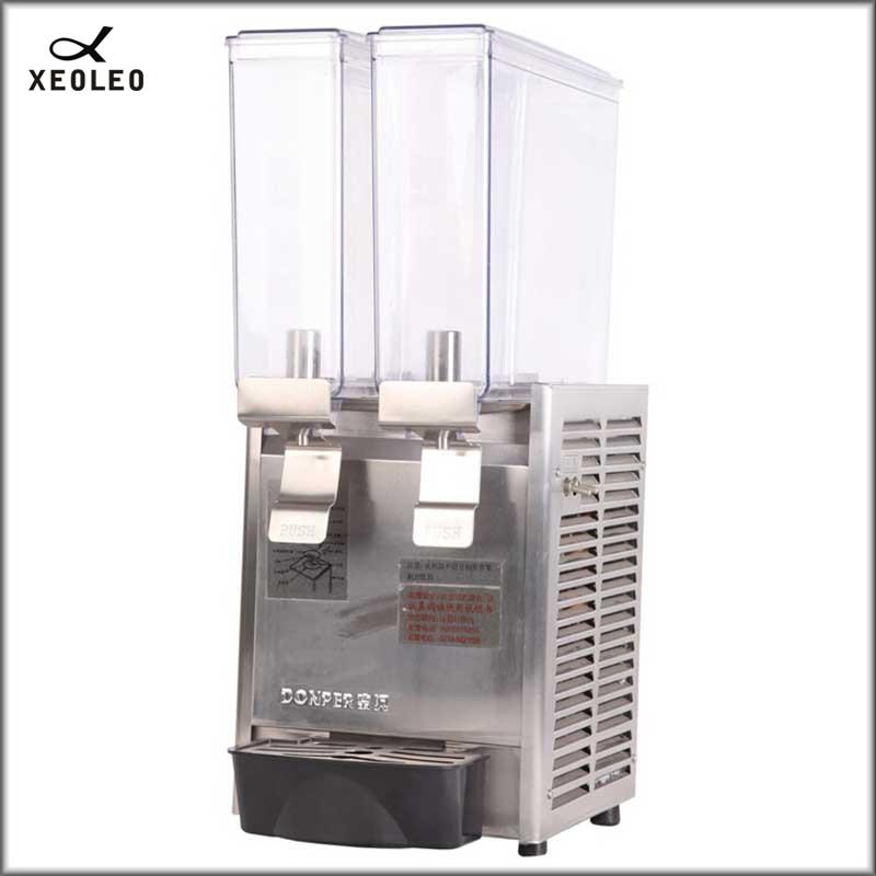 XEOXEO Double Tanks Hot Drink Dispenser 8L*2 Fruit Juice Dispenser 200V Two Jars Mixing Type Beverage Machine 56~67 Degree