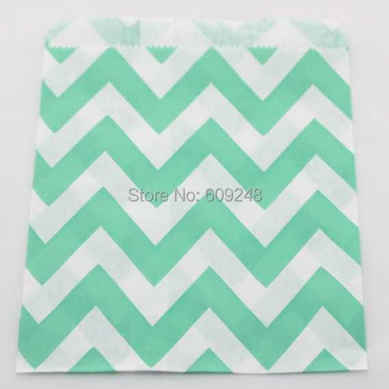 100pcs mixed colors aqua zig zag paper candy bags kids colored buffet treat