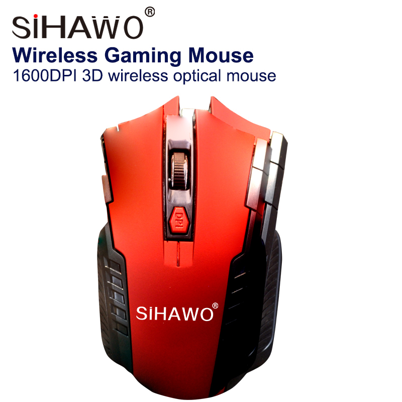 Wireless Mouse Optical Mouse 2400dpi Gaming Mouse 6 keys USB Computer Peripheral Equipment