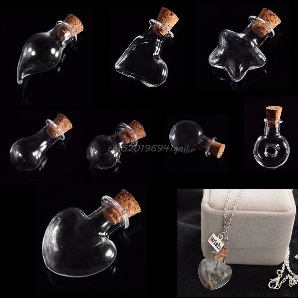 5PCS augstas kvalitātes jauki mazas pudeles tiny dzidrs tukšs, vēlams stikla ziņojums ar korķa aizbāzni 35 mm mini konteineri # T025 #