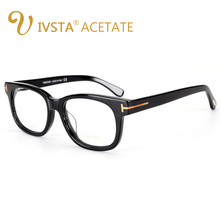 IVSTA TF 5147 5227 Real Handmade Acetate Spectacle Frame Square Glasses Men Cat Eye Women Optical Eyeglasses Prescription Myopia