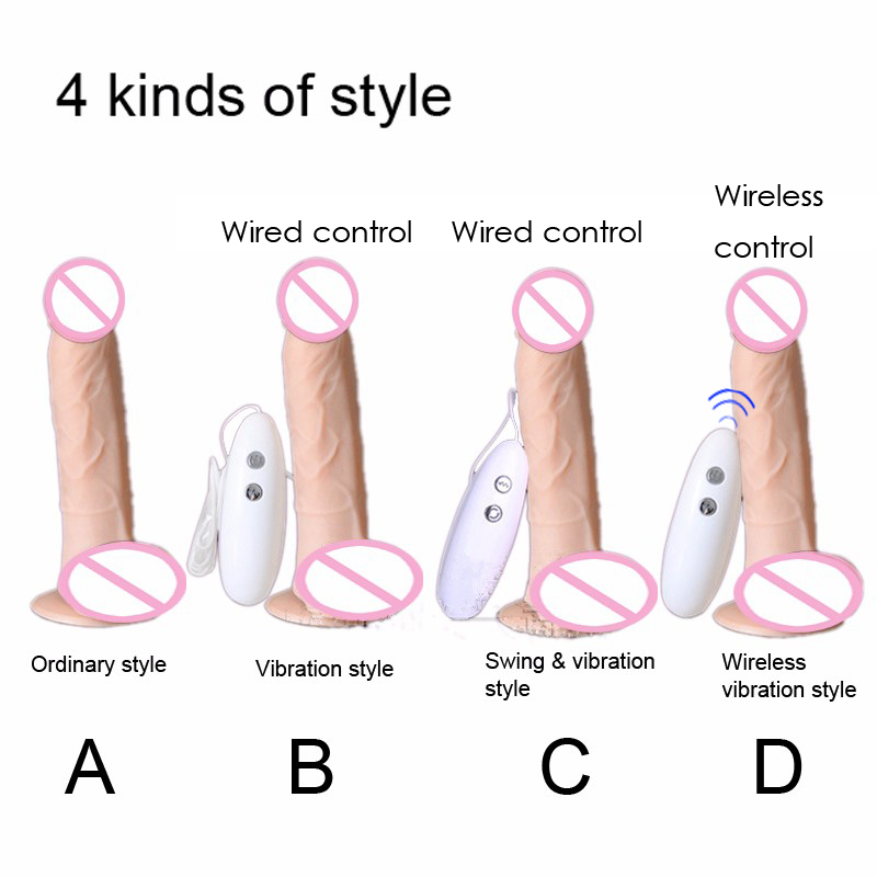 Wireless-remote-control-Vibration-Realistic-Dildo-swing-Penis-Strong-Double-motors-Adult-Sex-Products-Sex-Toys