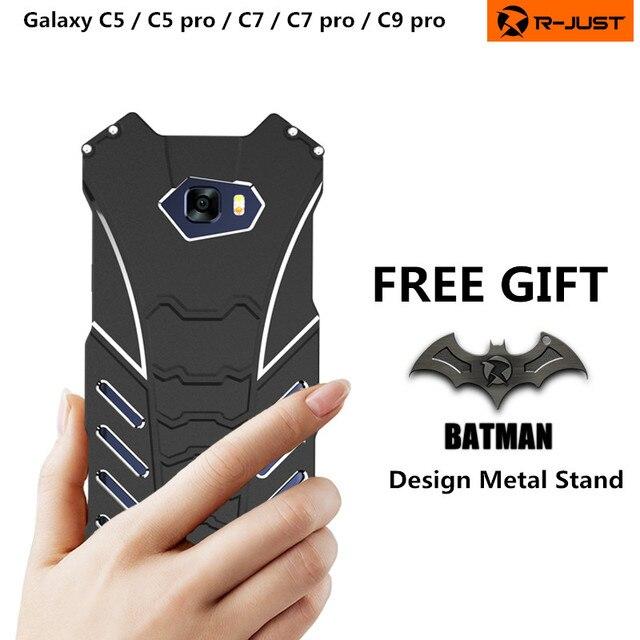 BatMan Luxury Cool กรณีการออกแบบสำหรับ Samsung Galaxy C5 C7 โทรศัพท์มือถือกันกระแทก Kickstand สำหรับ C5 pro C7 pro C9pro