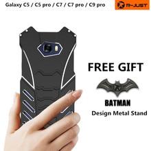 배트맨 럭셔리 쿨 디자인 케이스 삼성 갤럭시 c5 c7 휴대 전화 커버 충격 방지 킥 스탠드 케이스 c5 프로 c7 프로 c9pro