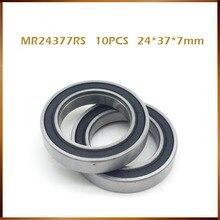 O envio gratuito de 24377 mr2437 2rs shimano rolamento aço (24*37*7mm) bb90 suporte inferior peças reparo rolamento