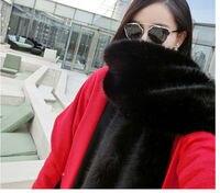 Vagary Wide Fur Pashimina Faux Fur Collar Long Faux Fox Fur Scarf Raccoon Fur Shawl Winter Female Fashion Large shawl