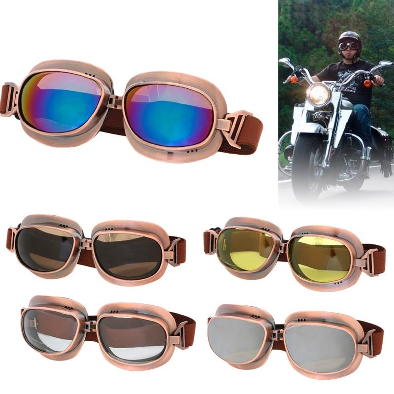 Bronze Frame Motocross Adult Goggles Motorcycle ATV Off-Road Cruiser Eyewear Skating Glasses