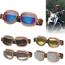 Bronze Frame Motocross Adult Goggles Motorcycle ATV Off-Road Cruiser Eyewear Skating Glasses