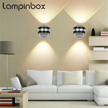 hot deal buy modern home sconce decoration wall lamps 6w led wall lamp indoor aluminum crystal light up down light led wall lamps lp-77