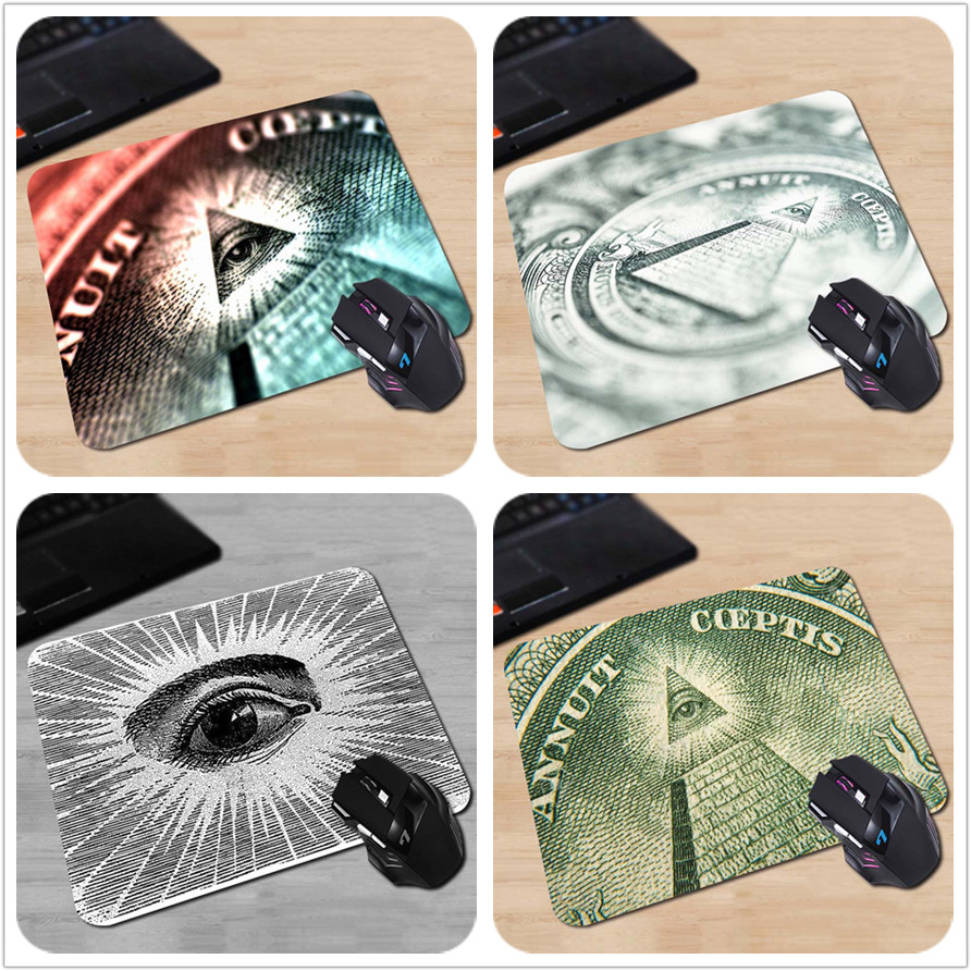 High Quality Customized Mouse Pad Magic All Seeingeye Cash Close-up Freemasonary Money Computer Notebook Durable Mouse Mat Pad close-up