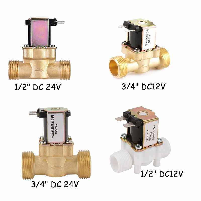12V/24V G1/2 G3/4 NC Electrical Inlet Solenoid Pressure Regulating Water Valve for Water Control Dispense Tool