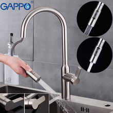GAPPO kitchen faucets Stainless steel sink faucet sprayer pull out kitchen tap mixer kitchen water torneira cozinha frap 304 stainless steel kitchen faucet high arch kitchen sink faucet pull out rotation spray mixer tap torneira cozinha fld1908