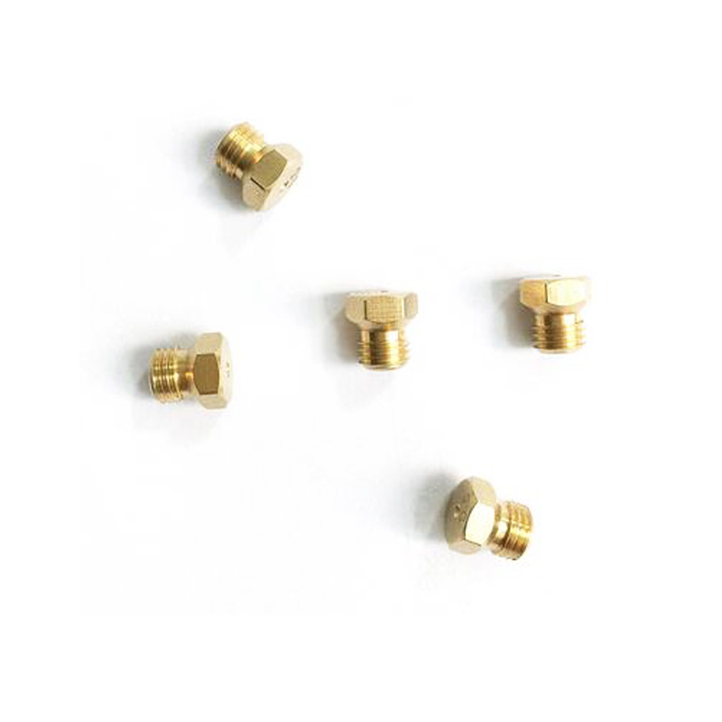 M6*0.75 Brass Jet Nozzle Length 8mm And Hexagon 7mm For Gas Pipe Water Heater Or Heater