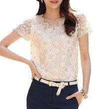 2016 summer style blusas lace chiffon blouse women tops blouses clothes vetement femme chemise plus size