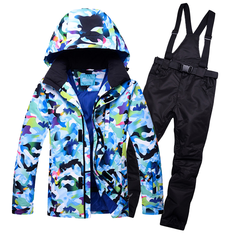 2018 Men Ski Suit Skiing Jacket Snowboard Jacket Thermal Sport Wear Waterproof Windproof Jacket Pant Male Clothing Trouser Suit недорго, оригинальная цена