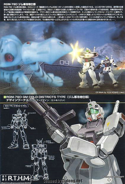 Bandai HGUC 38 RGM-79D GM cold district type Gundam Model Kits Assembled Model Huge Model scale model