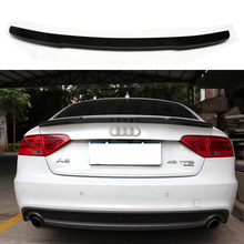 Car Accessories Carbon Fiber Modified Rear Spoiler Tail Trunk Wing Boot Lip Fit For Audi A5 S5 Sportback 4Doors 2009-2016