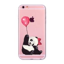 Soft Phone Cover Case For iPhone 7 6 6S 5 5S SE 7Plus 6SPlus 4S Amazing Present Panda Fashion Girl Hamster Heart Fundas