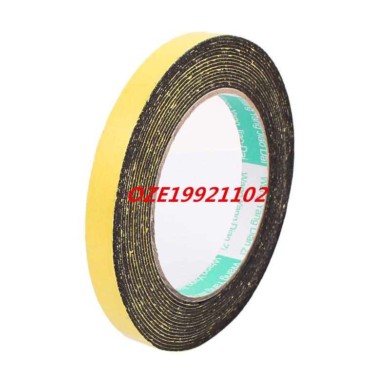 12mm x 1mm Single Sided Self Adhesive Shockproof Sponge Foam Tape 5M Length 2pcs 2 5x 1cm single sided self adhesive shockproof sponge foam tape 2m length
