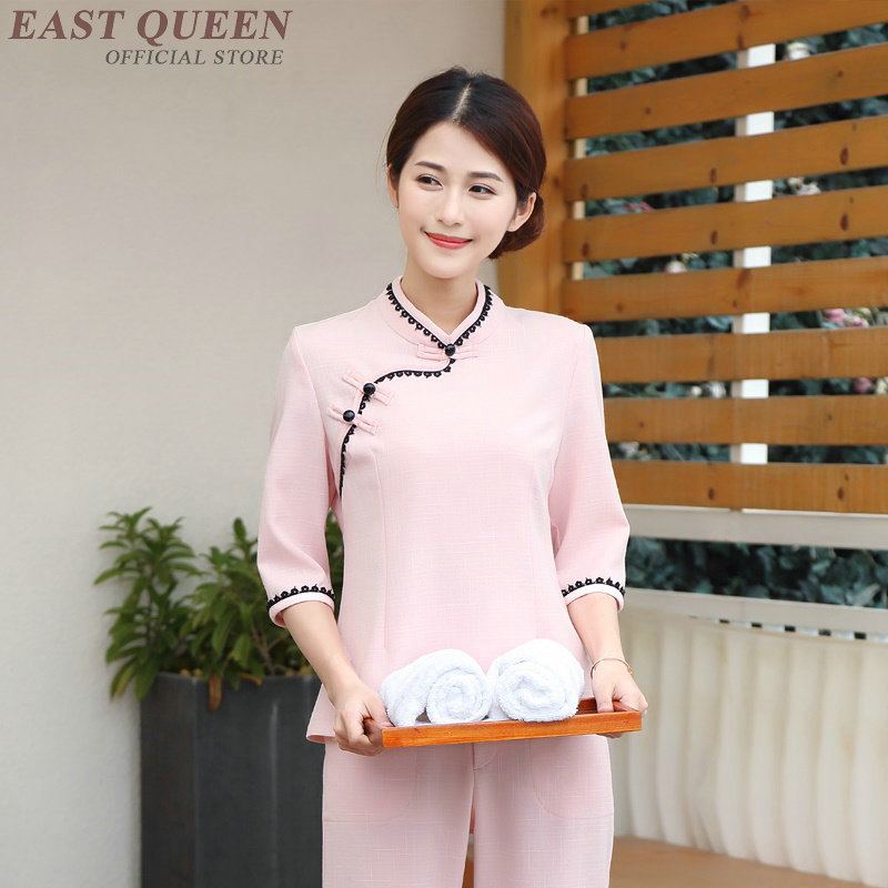 Housekeeping Uniforms Hotel Supplies Maid Hotel Cleaner Uniform Workwear Cleaning Service Uniform Waitress Clothing DD1086