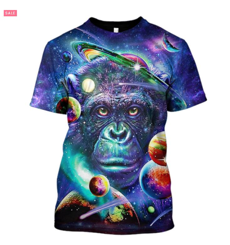 Plstar Cosmos Hoodie 2019 Fashion Men3D Cat Astronaut  Full Print 3D Print Unisex 3D Monkey In The Space  Sweatshirt Tee