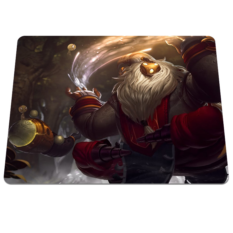 New Brand bard lol Background DIY Printing Pattern Soft Silicone Optical Computer Mouse Mat Anti-slip Durable Gaming Pads
