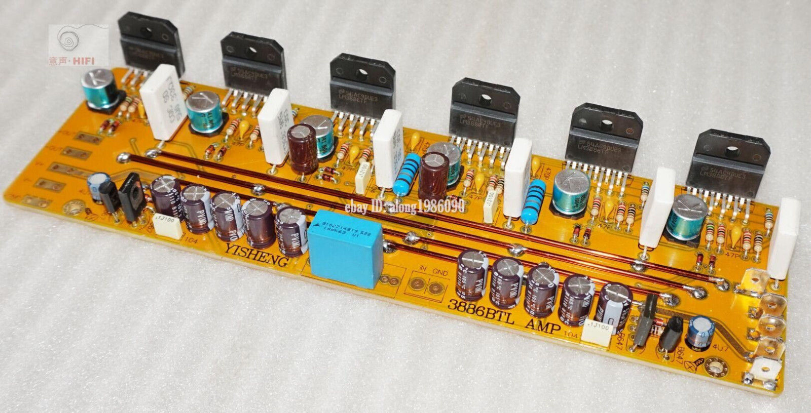Assembeld Mono LM3886 Hifi Amplifier Board Base On JEFF Rowland LM3886 Power Amplifier assembeld mono lm3886 hifi amplifier board base on jeff rowland lm3886 power amplifier