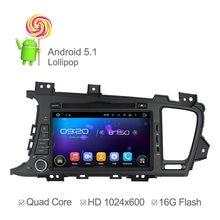 Corteza A9 Quad Core Android 5.1 Coches Reproductor de DVD Para KIA K5 Optima 2011 2012 2013 2014 con la navegación del GPS Radio RDS 1024*600